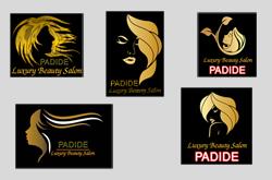 پنج طرح لوگوی آرایشگاه و سالن زیبایی نه لایه باز PSD